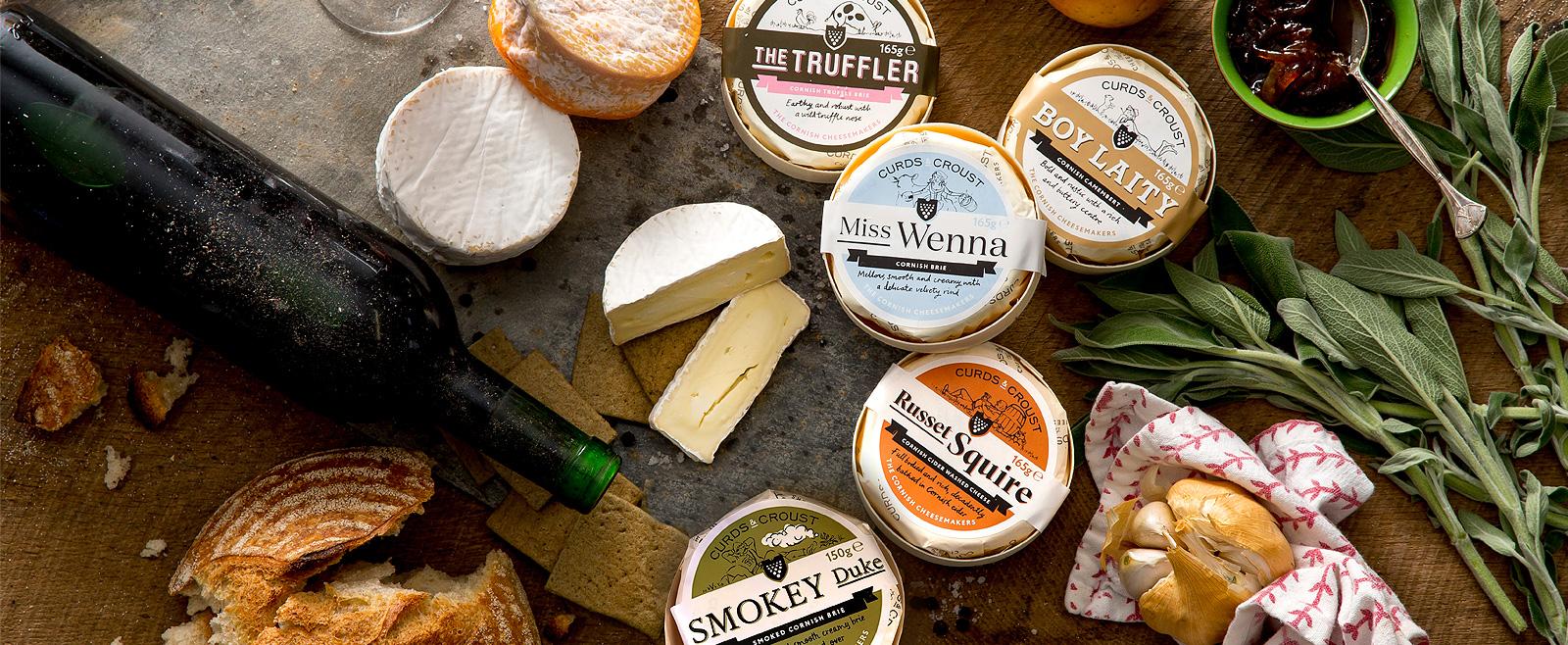 Curds & Croust artisan Cornish cheeses