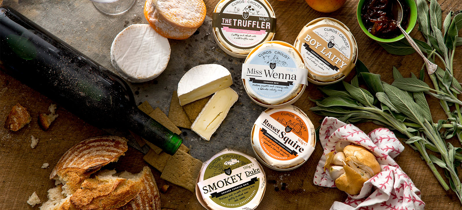 Curds & Croust artisan Cornish soft cheeses